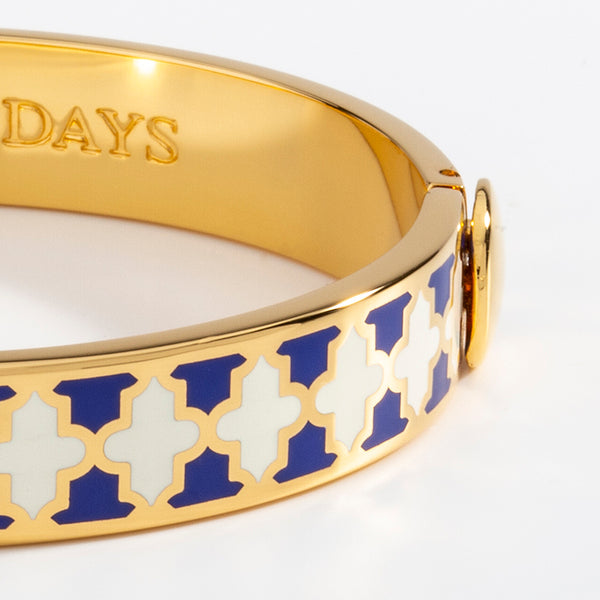 Agama Cobalt, Cream & Gold Bangle