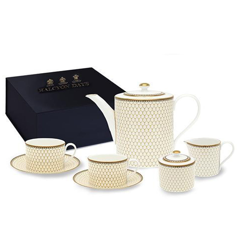 Antler Trellis Ivory Tea for Two Box Set