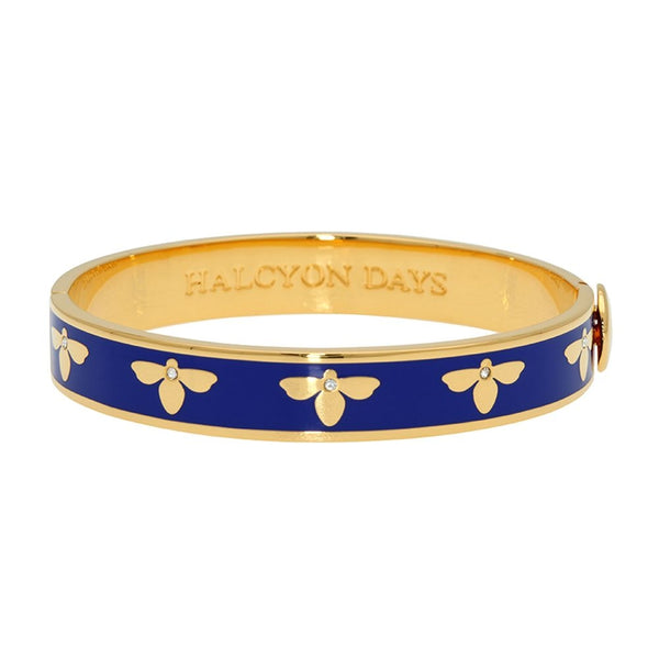 Bee Deep Cobalt & Gold Bangle