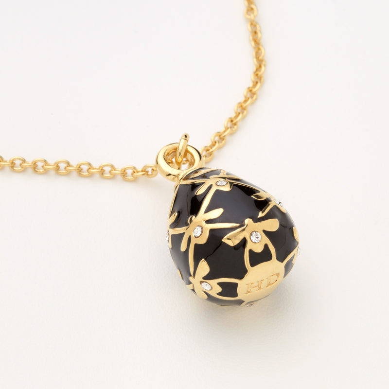 Bee Sparkle Black & Gold Pendant