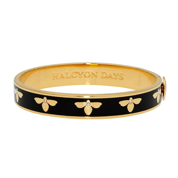 Bee Black & Gold Bangle