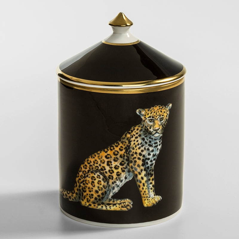 Leopard Black Jasmine Lidded Candle