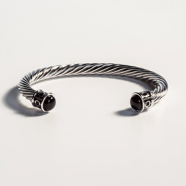 Maya Torque Black & Palladium Bangle