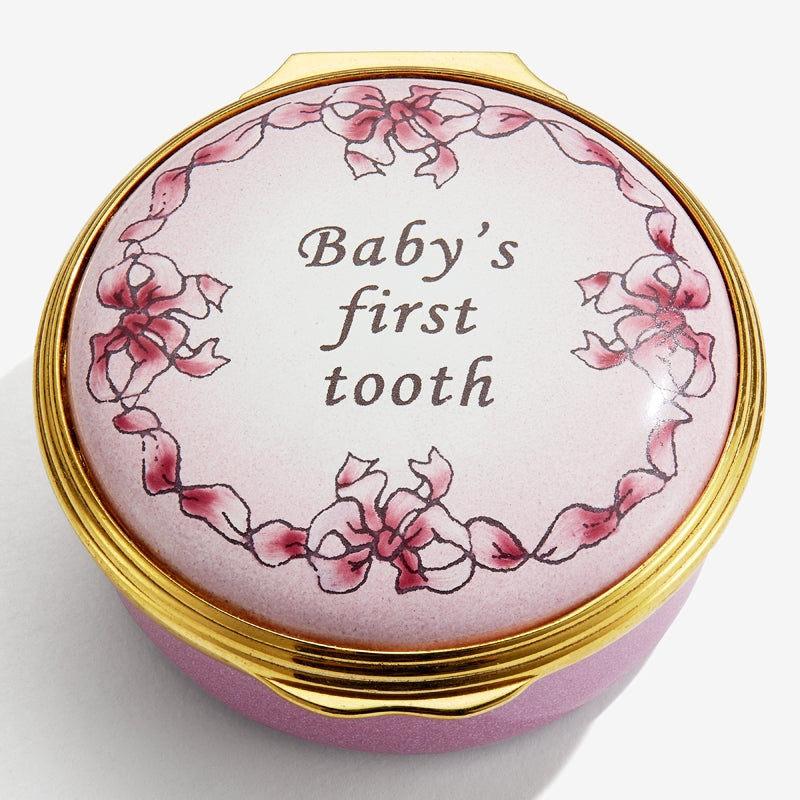 Baby's First Tooth Pink Box