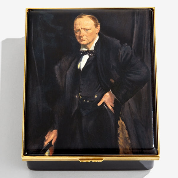 'Winston Churchill' by Sir William Newenham Montague Orpen Box