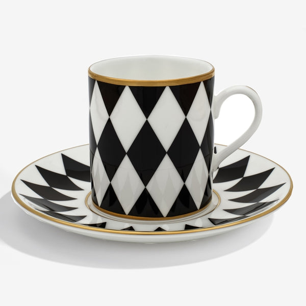 Parterre Coffee Cup & Saucer Black