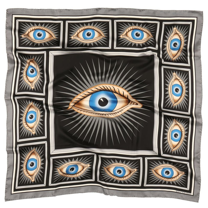 Gladys Deacon Black Silk Scarf