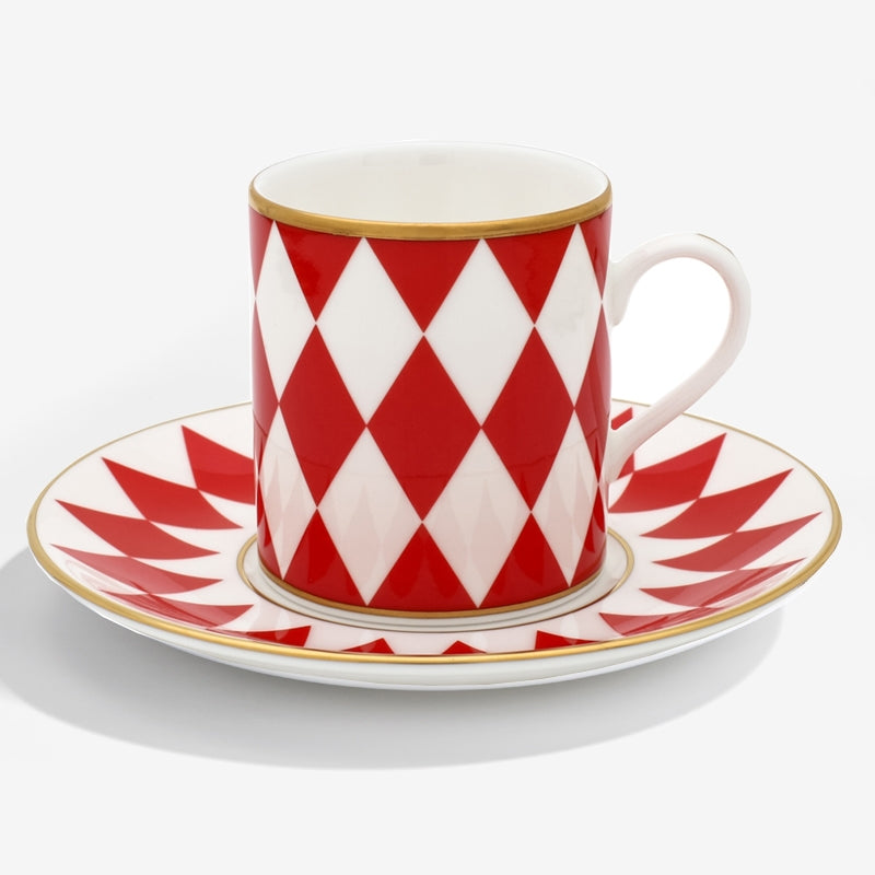 Parterre Coffee Cup & Saucer Red