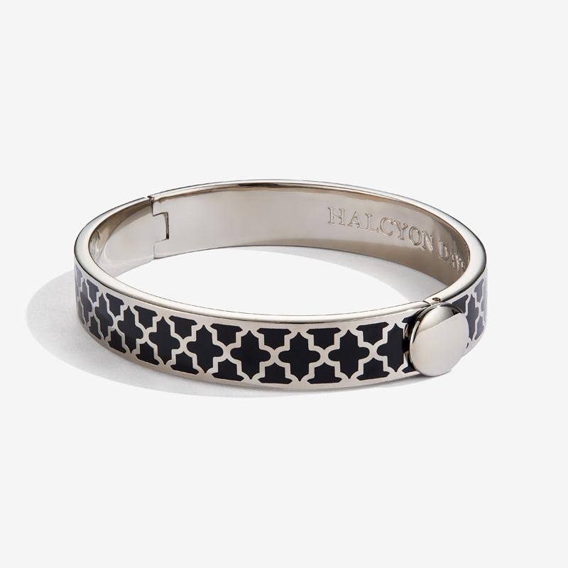 Agama Black & Palladium Bangle