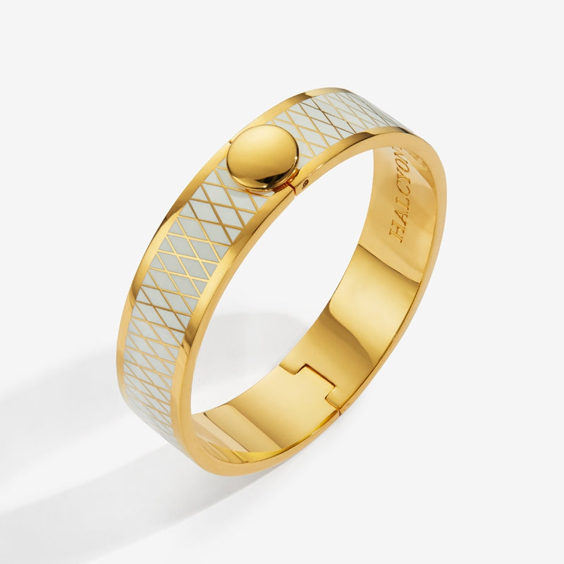 Parterre Cream & Gold Bangle