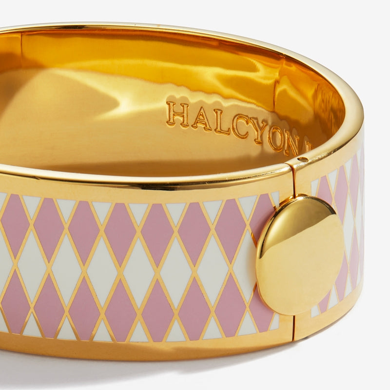Parterre Pink Cream & Gold Bangle