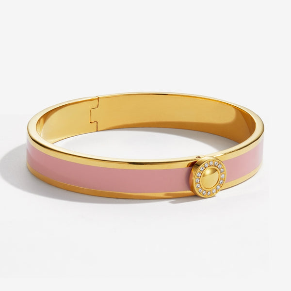 Sparkle Button Pink & Gold Bangle