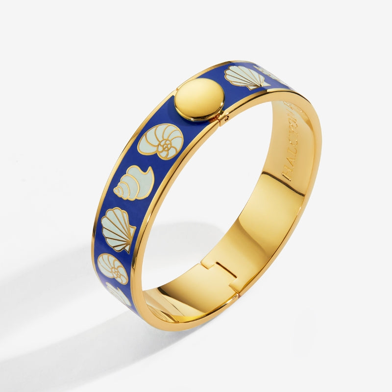 Shells Deep Cobalt Cream & Gold Bangle