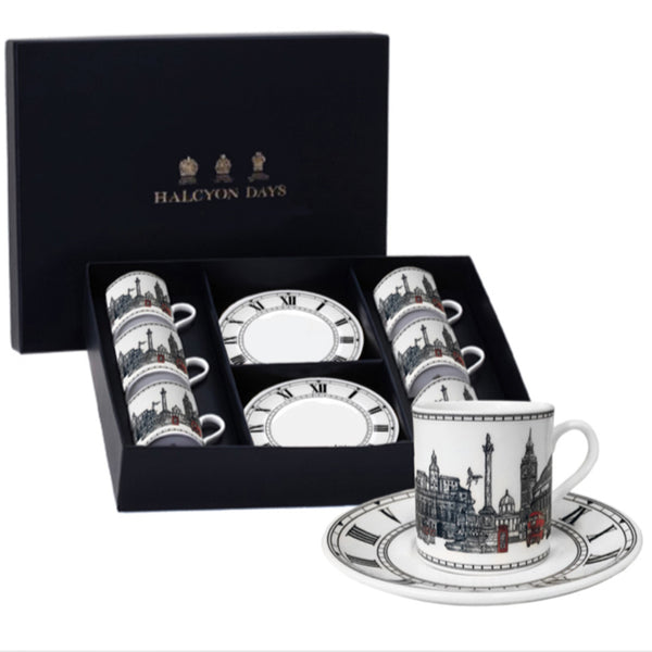 London Icons Coffee Cup & Saucer Set of 6