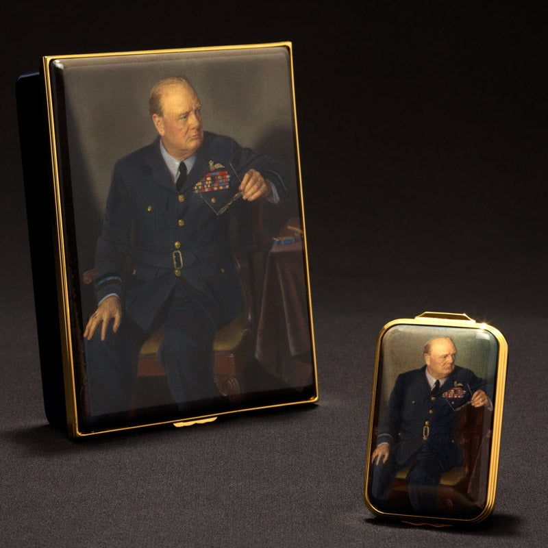 Churchill Portrait by Chandor Box