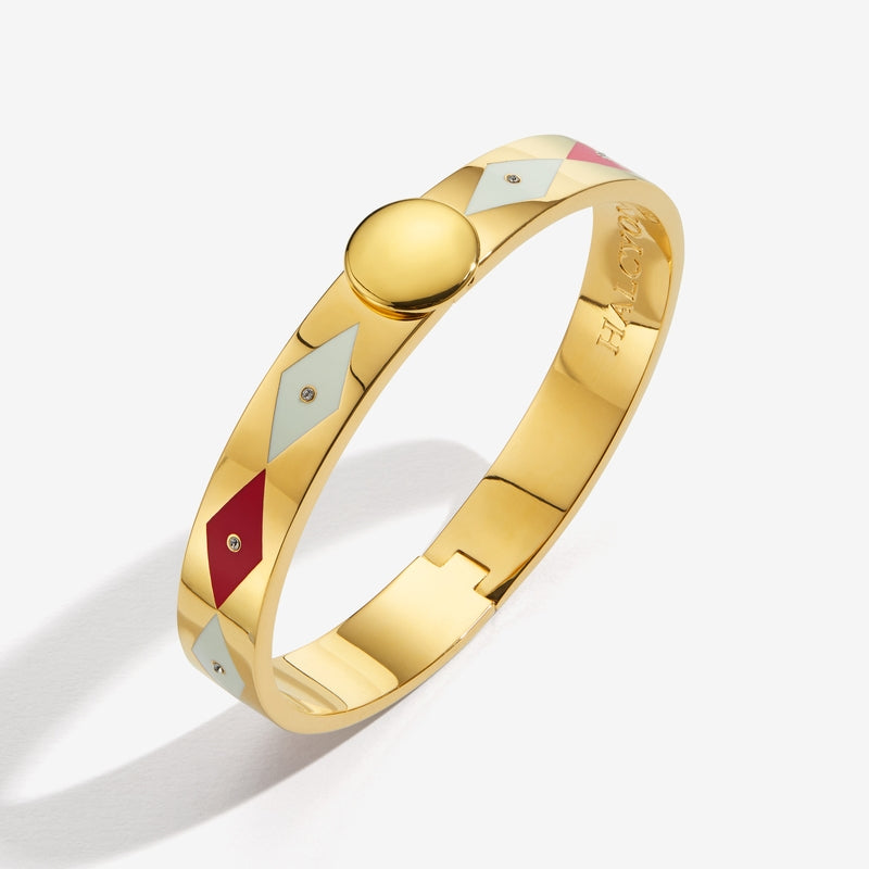 Sparkle Red Cream & Gold Bangle
