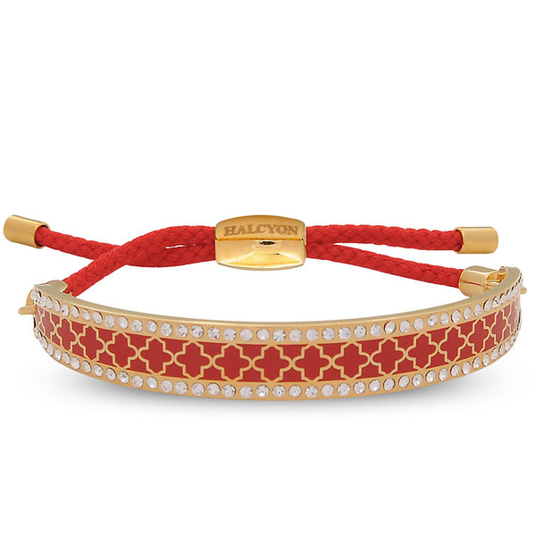 Agama Sparkle Red & Gold Friendship Bangle