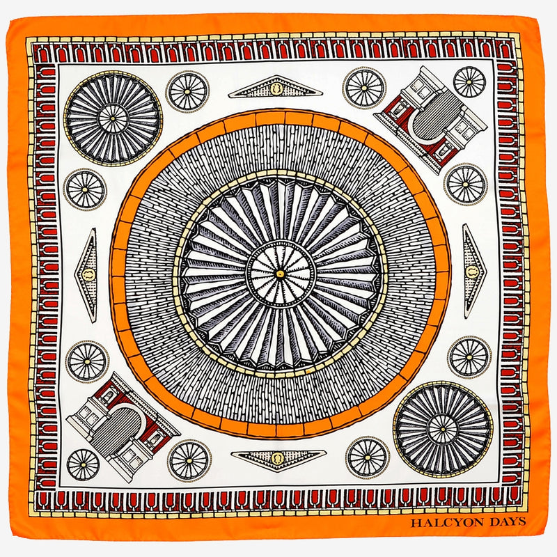 Royal Albert Hall Orange Silk Scarf