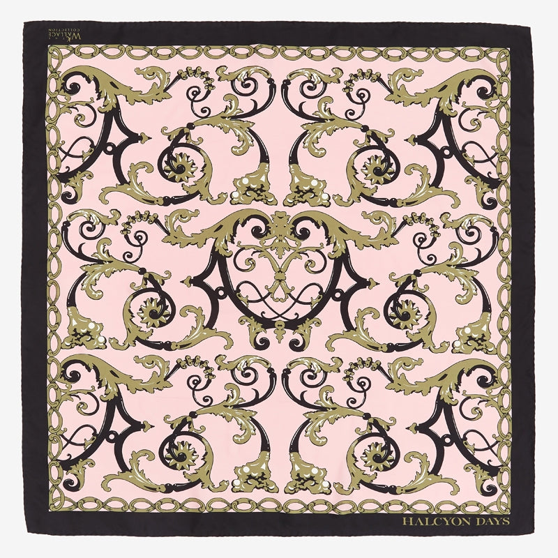 Wallace Balustrade Pink Silk Scarf