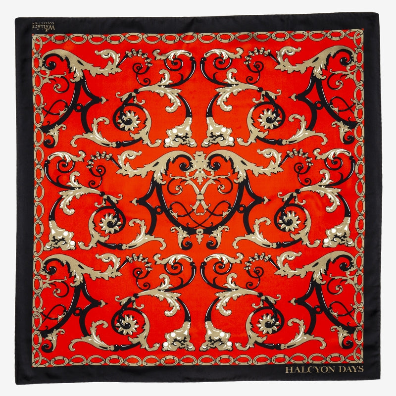 Wallace Balustrade Red Silk Scarf