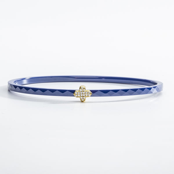 Single Agama Pavé Bangle Deep Cobalt  & Gold