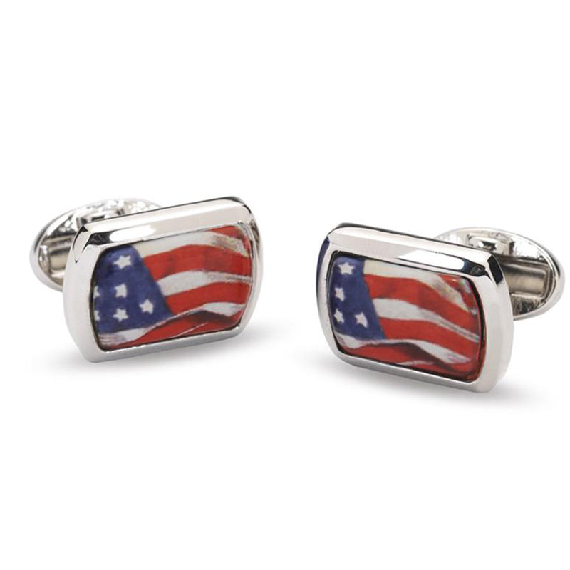 American Flag Rectangular Cufflinks