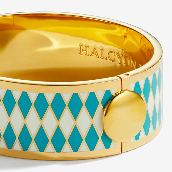Parterre Turquoise Cream & Gold Bangle