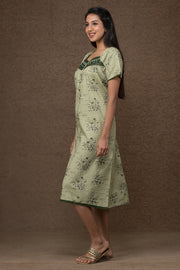All over floral printed nightwear – Green - Maybell Womens Fashion