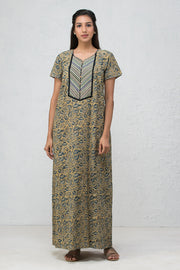 Kalamkari Nightwear – Beige - Maybell Womens Fashion