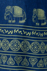 Maybell Elephant printed kurta -Blue4