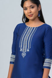 Maybell Tribal printed kurta -Navy blue