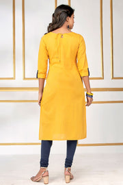Dhandiya Dance Printed Kurti – Yellow - Maybell Womens Fashion