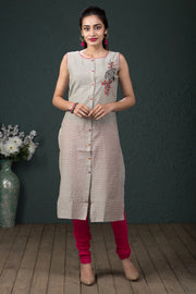 Abstract printed kurti - Pink - Maybell Womens Fashion