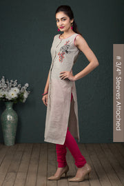 Abstract printed kurti - Pink