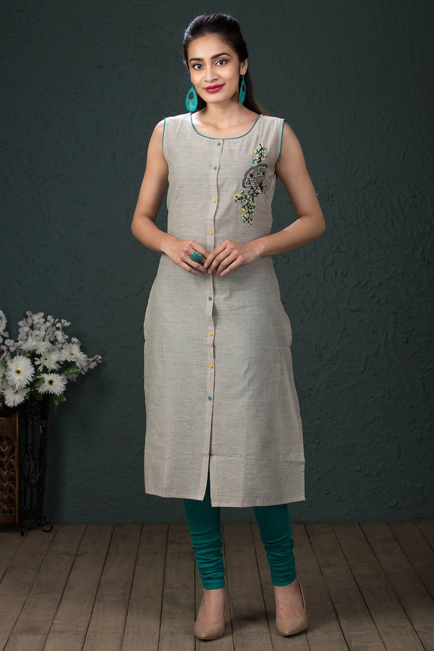 Abstract printed kurti - Green - Maybell Womens Fashion