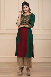 Printed kurta - Green - Maybell Womens Fashion