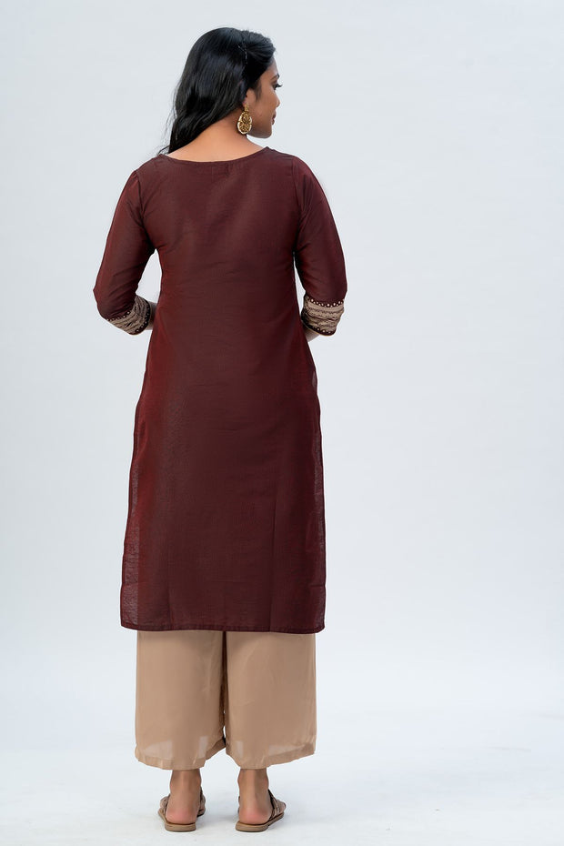 Maybell Tribal printed kurta -Maroon5