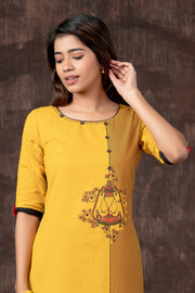 Contemporary Lantern Printed Kurta - Yellow