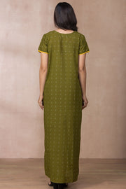 Embroidered Nightwear - Green - Maybell Womens Fashion