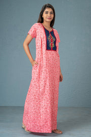 All over printed nightwear-Pink