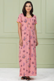 Floral Printed Nightwear – Pink - Maybell Womens Fashion