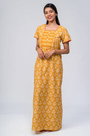 All over printed nighty - Yellow