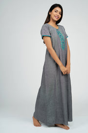 Maybell-Plain nighty - Grey