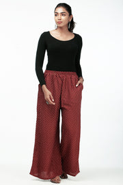 Comfy Solid Palazzo - Sea Maroon - Maybell Womens Fashion