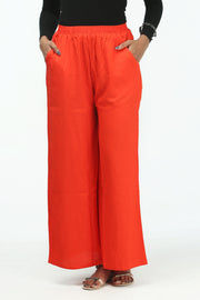 Comfy Solid Palazzo - Orange - Maybell Womens Fashion