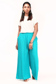 Comfy Solid Palazzo - sea blue - Maybell Womens Fashion
