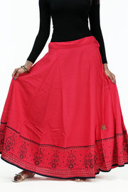 Ethnic Printed Skirt - Pink - Maybell Womens Fashion