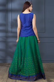 Skirt Set - Green & Blue - Maybell Womens Fashion