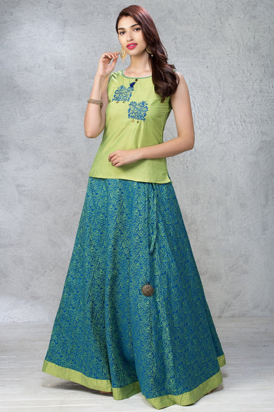 Skirt Set - Green - Maybell Womens Fashion