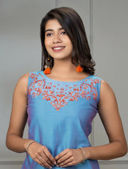 Floral Embroidered Top & Skirt Set - Maybell Womens Fashion
